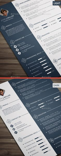 Your resume is one of your best marketing tools. The goal of your resume is to tell your individual story in a compelling way that drives prospective employers to want to meet you. Modern Resume Template, Cv Template, Resume Templates, Cv Design, Resume Design, Graphic Design, Cv Web, It Cv, Portfolio Resume