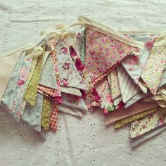 Bunting <3 need to make some beautiful bunting just like this! Summer Project