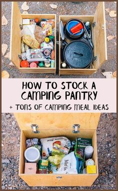 How to stock a Camping Pantry + tons of easy camp meal ideas! via camping ideas tips, rv camping destinations, camping supply list to stock a Camping Pantry + tons of easy camp meal ideas! Camping Survival, Camping Hacks, Checklist Camping, Camping Info, Camping Bedarf, Camping Supplies, Camping Essentials, Camping With Kids, Family Camping