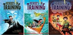 HEROES IN TRAINING features 10 year olds:  Zeus, Hera, Hades, and Poseidon as they fight to save the earth from vicious Cronus and the Titans.  (see list for reading info) By Suzanne Williams and Joan Holub.