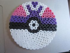 Pokemon Master Ball Perler Beads Magnet by jessfirmin on Etsy, $6.00