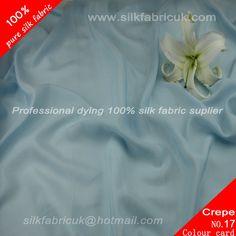 12mm silk crepe de chine fabric- sky blue  http://www.silkfabricuk.com/12mm-silk-crepe-de-chine-fabric-sky-blue-p-346.html