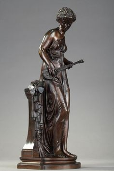 Patinated Bronze Figure  muse  By Paul Duboy (1830-1887), Galerie Atena, Proantic1300eu