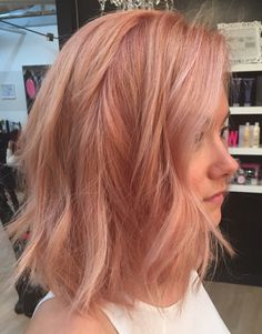 Bob Haarfarbe Ideen - All For Hair Cutes Cabelo Rose Gold, Strawberry Blonde, Hair Day, Blorange Hair, Gorgeous Hair, Beautiful, Pretty Hairstyles, Hairstyles 2016, Funky Hairstyles