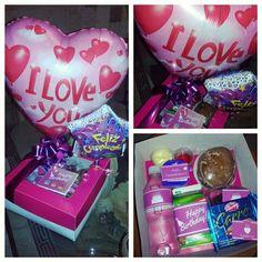 Caja decorada para desayuno ♥ Motivo: Amor Evento: Cumpleaños