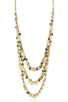 14K Golden Flake Necklace