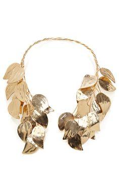 Esme Vie Birch Leaves Gold Necklace by Esme Vie