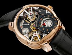 greubel Greubel Forsey Invention Piece 2 Quadruple Tourbillon: $750,000 greubel  What's inside the world's most expensive luxury watch? One tourbillion is already a class of its own. But what about four asynchronous tourbillions? That's what the Greubel Forsey Invention Piece 2 Quadruple Tourbillon has to offer. This feature further enhances the timepiece's accuracy. On top of the quadruple tourbillions, this watch exhibits a classic, elegant look that makes it worthy its price tag.