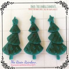 I\'m gearing up for Christmas already! These sweet trees have just been listed ready for your Xmas cards or tags! Brand new in store now! #xmascard #xmascards #christmascards #christmascraft #christmascrafts #resinpieces #etsyau #christmastree