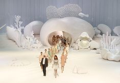 Chanel's Under the Sea Runway for Spring Fashion Week 2012 at the Palais Royal