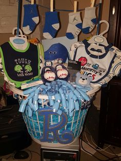 inexpensive baby shower gift dollar tree basket with ribbon weaved