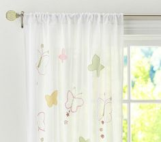 Butterflies in your window...change our plain sheers for fun, sunny ones!