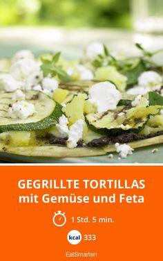 Gegrillte Tortillas - mit Gemüse und Feta - smarter - Kalorien: 333 kcal - Zeit: 1 Std. 5 Min. | eatsmarter.de