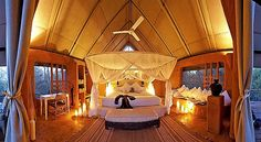 Garonga Safari Camp and Little Garonga are luxury tented camps in the Makalali Concervancy near Kruger National Park, South Africa. South Africa Holidays, Africa Safari Lodge, Safari Room, Safari Chic, Safari Outfits, Camping Glamping, African Safari, Tanzania, Outdoor Life