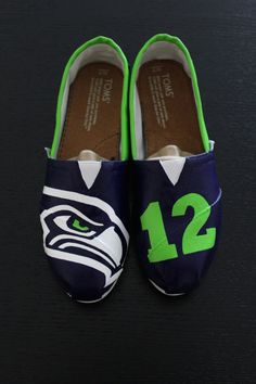 Women's Seahawks Toms Shoes by SmashParties on Etsy