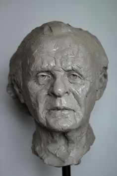 "Adam Pyś Sculpture Portrait of Anthony Hopkins . ""Wise Man"" 2016"