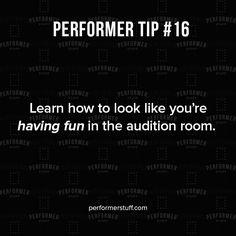 Smile! #performertips #quoteoftheday #actor #theatre #inspirationalquotes #acting #thespian #instatheatre #theatreislife #performerstuff