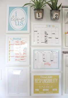 The Caldwell Project Family Command Center | Create A Fabulous Kitchen Command Center