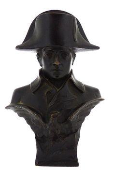 Fine Antique French Bust of Napoleon Bonaparte Bronze With Eagle - Sculpture BR