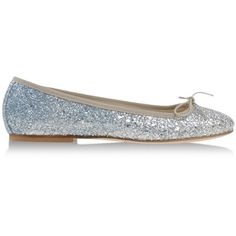 Anniel Ballet Flats ($65) ❤ liked on Polyvore featuring shoes, flats, silver, ballerina pumps, ballerina shoes, ballet flat shoes, ballet shoes and anniel flats