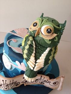 Whimsical owl Cake by cakesalouisa