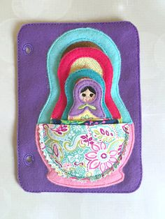 ***CURRENT PROCESSING TIME FOR QUIET BOOKS AND PAGES ARE 4-6 WEEKS*** Nesting Dolls Quiet Book Page. Perfect for at home or on the go. Measures 5x7 for little hands and easy travel. Pages can be completely customized in colors of your choice. Made to fit in the quiet book starter