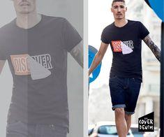 Smarten up your denim shorts with a logo T-shirt