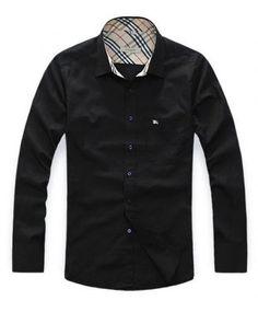 Burberry Black Mens Shirt