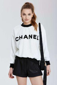 Vintage Chanel Dax Sweatshirt | Shop Vintage Goldmine #1: Chanel at Nasty Gal