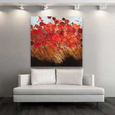 Original Poppy Painting 0093 Poppies Oil Watercolor