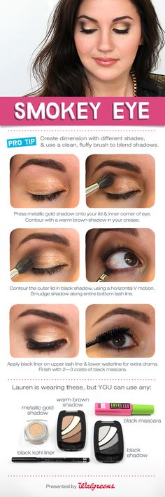 """Learn how to do a """"Smokey Eye"""" look that's perfect for any eye shape!"""