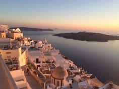 Por do sol de Santorini
