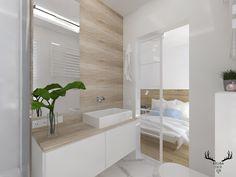 Minimalistyczna łazienka. Biel, drewno i marmur. Alcove, Bathtub, Bathroom, Inspiration, Home, Design, Standing Bath, Washroom, Biblical Inspiration