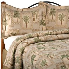 Comforter Set Brings A Relaxing, Tropical Feel To Your Bedroom With A Cool Palm  Tree Design.