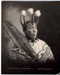 Tlinget Native American Chief Cow-Dik-Ney from Alaska 1906
