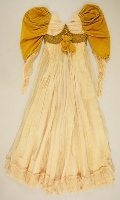Evening dress Date: 1891 Culture: French Medium: silk, glass, metal