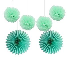 HEARTFEEL 4pcs 10 inch Mint Tissue Paper Pom Poms Mixed 2... https://www.amazon.com/dp/B014SZ4MGA/ref=cm_sw_r_pi_dp_x_ev8zzbPW64NKW