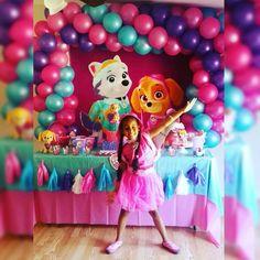 Birthday paw patrol skye and everest decorado por mi Mais Paw Patrol Birthday Girl, Girl Paw Patrol Party, 4th Birthday Parties, Birthday Fun, Birthday Ideas, Sky Paw Patrol, Rosalie, Unicorn Party, Birthdays
