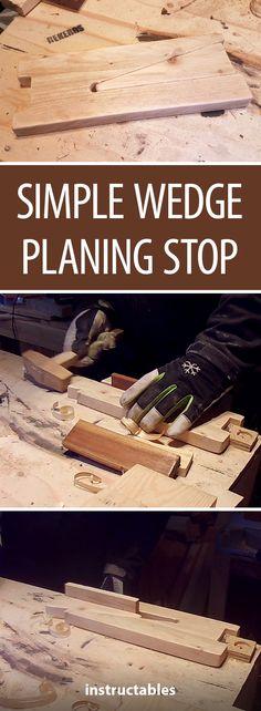 Simple Wedge Planing Stop #woodworking #workshop #tools