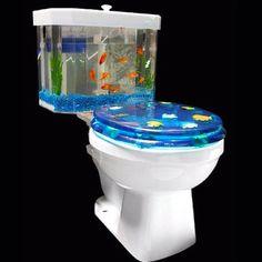 Interesting fish toilet!