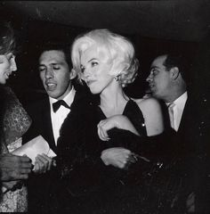 Marilyn with her escort Jose Bolanos at the Golden Globe Awards, March 5, 1962.