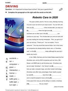 Driving, English, Learning English, Vocabulary, ESL, English Phrases, http://www.allthingstopics.com/driving.html