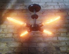 Steampunk ceiling light: