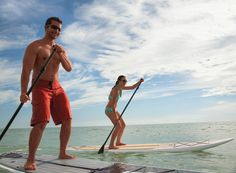Paddleboarding at TradeWinds Island Resorts - It looks more hard than relaxing. Wonder if it's worth a try?