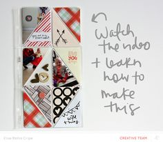 short video series on how to make a quilted project life page.