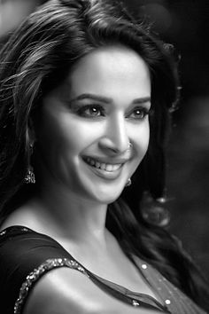 Madhuri Dixit... Bollywood actress. famous for her smile style and her dance.