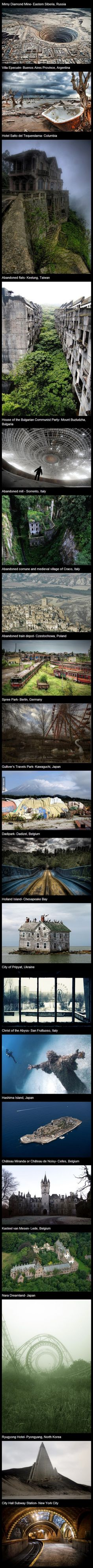 20 Cool Abandoned Places in the World
