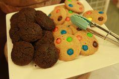 Choco fudge and m&m cookies