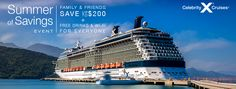 CELEBRITY CRUISE LINES is offering a Summer of Savings Event good through July 5th. Take a look at these exciting deals while they last!!