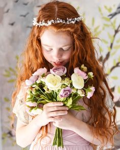 Designer Hair Garland The beautiful Alex wears our Infinite Journey Headband, the perfect accessory for every little princess, by Sienna Likes to Party, the specialists in designer hair accessories for children. Flower Girl Headbands, Flower Hair, Flower Girls, Hair Garland, Flower Girl Hairstyles, Girls Hair Accessories, Little Girl Fashion, Little Princess, Bridal Hair